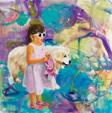 Lea und Dada . 120 x 130 cm
