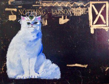 Königliche Katze . 130 x 100 cm