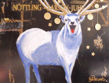 Weihnachtshirsch . 130 x 100 cm