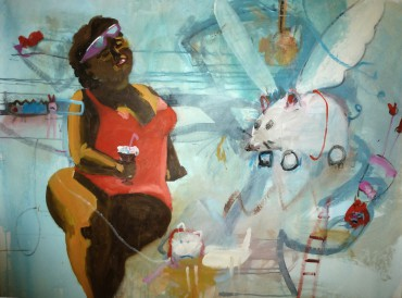 Poolgirl . 130 x 120 cm