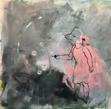 """Serie """"Warum Kresse"""" 1, 110 x 110 cm"""