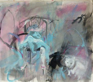"""Serie """"Warum Kresse"""" 3, 110 x 90 cm"""