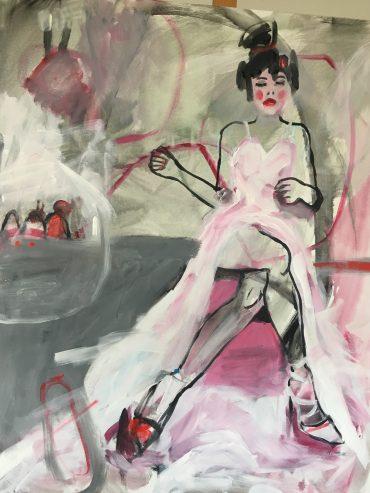 Serie Pasa, Acryl/Leinwand, 100×100 cm