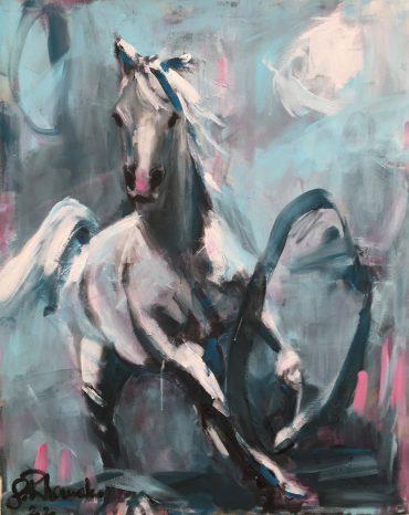 O.T., Acryl/Leinwand, 90 x 110 cm